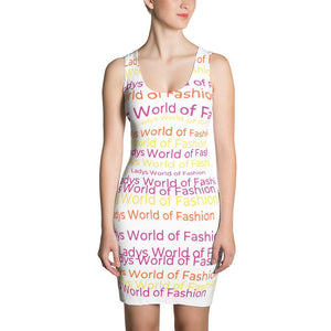 Lwof - Ladys World Of Fashion Rainbow Sublimation Cut & Sew Dress Xs