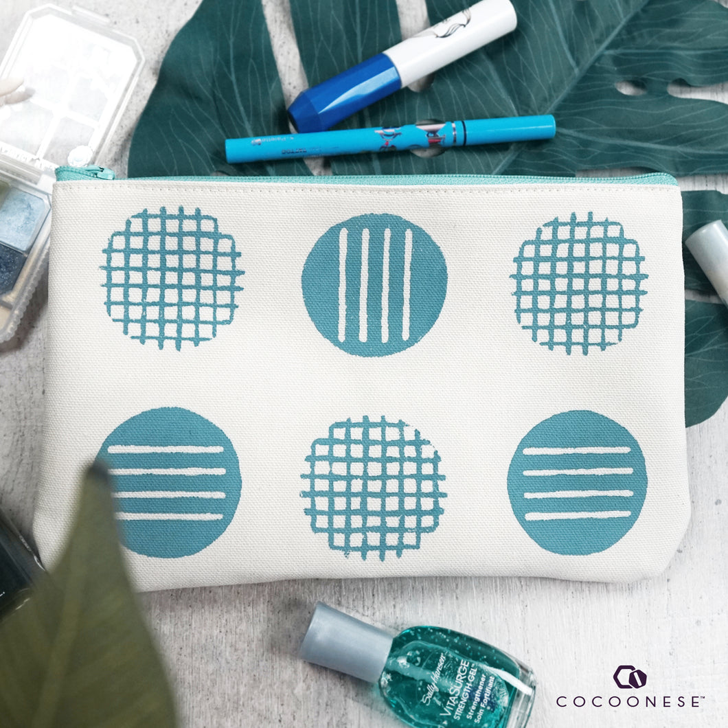 Zip Pouch - Circlemesh Collection (Ivory)