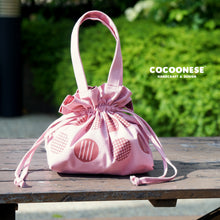 Load image into Gallery viewer, Drawstring Top Handle Handbag  - Circlemesh Collection (Cheery🍒)