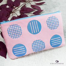 Load image into Gallery viewer, Zip Pouch - Circlemesh Collection (Pink)