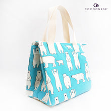 Load image into Gallery viewer, Insulated Lunch Bag - Polar Bear Romp