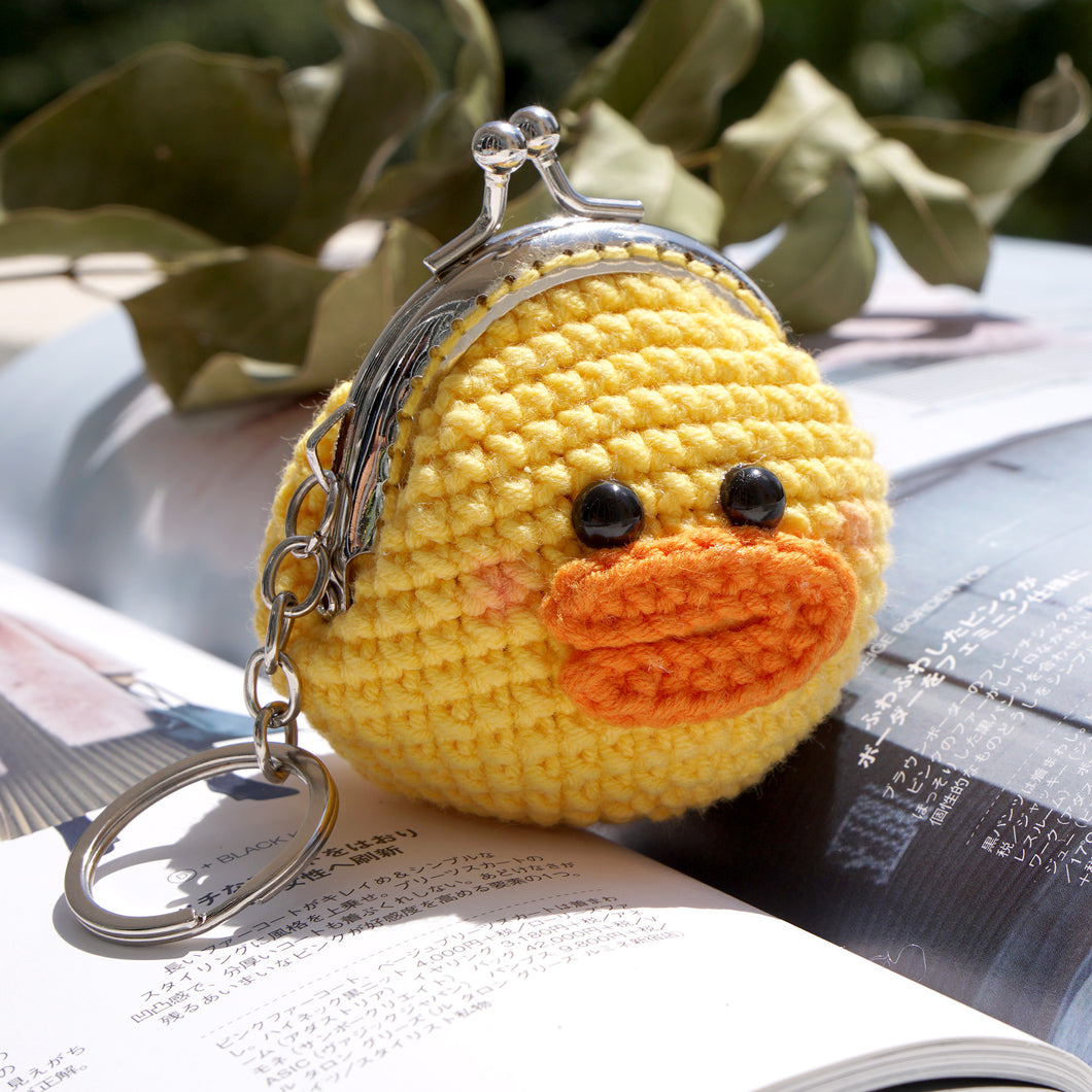 Animal Coin Purse with Key Chain - Duckling
