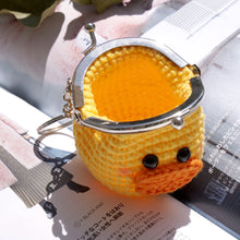 Load image into Gallery viewer, Animal Coin Purse with Key Chain - Duckling