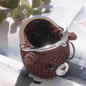 Animal Coin Purse with Key Chain - Little Bear