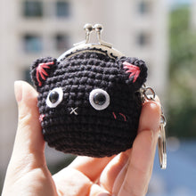 Load image into Gallery viewer, Animal Coin Purse with Key Chain - Kitty