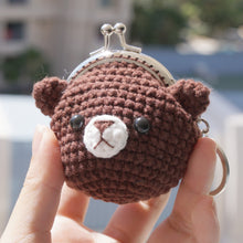 Load image into Gallery viewer, Animal Coin Purse with Key Chain - Little Bear