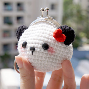 Animal Coin Purse with Key Chain - Panda