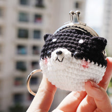 Load image into Gallery viewer, Animal Coin Purse with Key Chain - Shiba