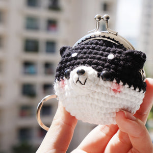 Animal Coin Purse with Key Chain - Shiba