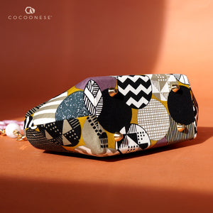 Acrylic Chain Handle Clasp Sling Bag - Geometric Dynamic Dots