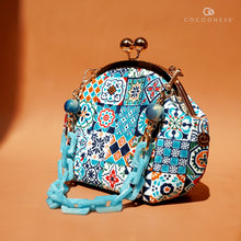 Load image into Gallery viewer, Acrylic Chain Handle Clasp Sling Bag - Peranakan Tiles