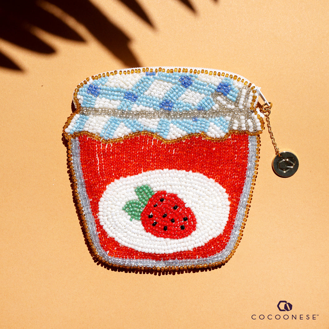 Beaded Coin Purse - Jam Jar
