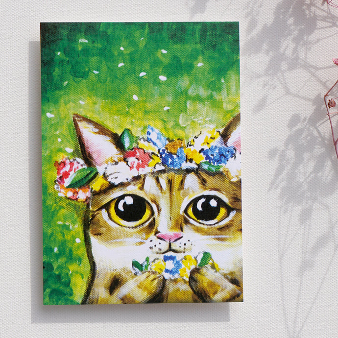 Postcards _ That is love wreath | animals daily series |