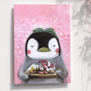 Postcards _ Miss Penguin-The Healing Dessert-Everyday Animal Series