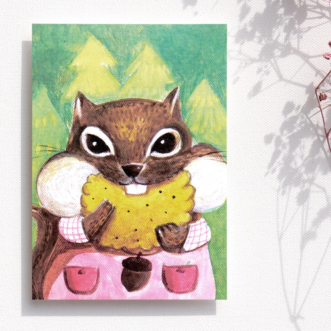 Postcards _ Squirrel only loves cookies - The daily series of animals