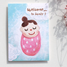 Load image into Gallery viewer, Postcards _ Newborn Baby Series Welcome to family - Caterpillar tender baby girl