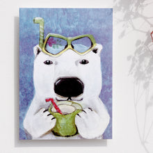 "Load image into Gallery viewer, Postcards _ Vacation Day ""Sir polar bear"" of 