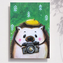 "Load image into Gallery viewer, Postcards _ Love taking pictures, ""Mr. Hedgehog"" 