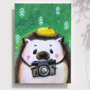 "Postcards _ Love taking pictures, ""Mr. Hedgehog"" 