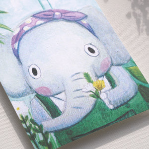 "Postcards _ ""Elephant"" Flower Artist 