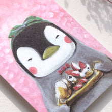 Load image into Gallery viewer, Postcards _ Miss Penguin-The Healing Dessert-Everyday Animal Series