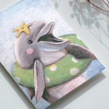 Load image into Gallery viewer, Postcards _ Dolphin Swimming Circle - Animal's Daily Life Series