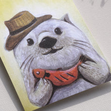 "Load image into Gallery viewer, Postcards _ ""Mr. otters' mind 