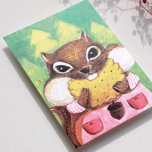 Load image into Gallery viewer, Postcards _ Squirrel only loves cookies - The daily series of animals