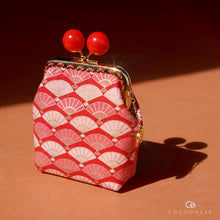 Load image into Gallery viewer, Clutch Purse - Fans (Red)