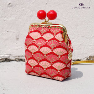 Clutch Purse - Fans (Red)