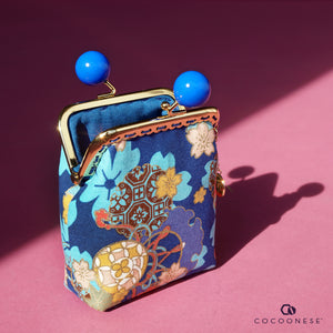 Clutch Purse - Sakura Clouds (Blue)