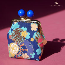 Load image into Gallery viewer, Clutch Purse - Sakura Clouds (Blue)