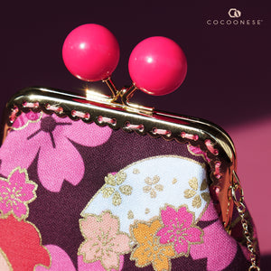 Clutch Purse - Sakura Clouds (Pink)