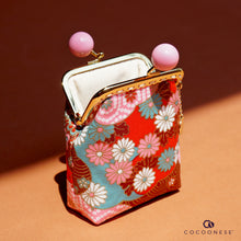 Load image into Gallery viewer, Clutch Purse - Hinagiku (Chili Red)