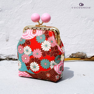 Clutch Purse - Hinagiku (Chili Red)