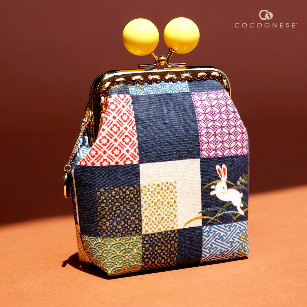 Clutch Purse - Bunny with  Checkered