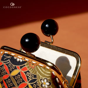 Clutch Purse - Hinagiku (Black)