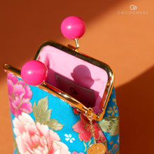 Load image into Gallery viewer, Clutch Purse - Peony Cluster