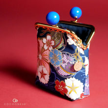 Load image into Gallery viewer, Clutch Purse - Sakura Forest (Blue)