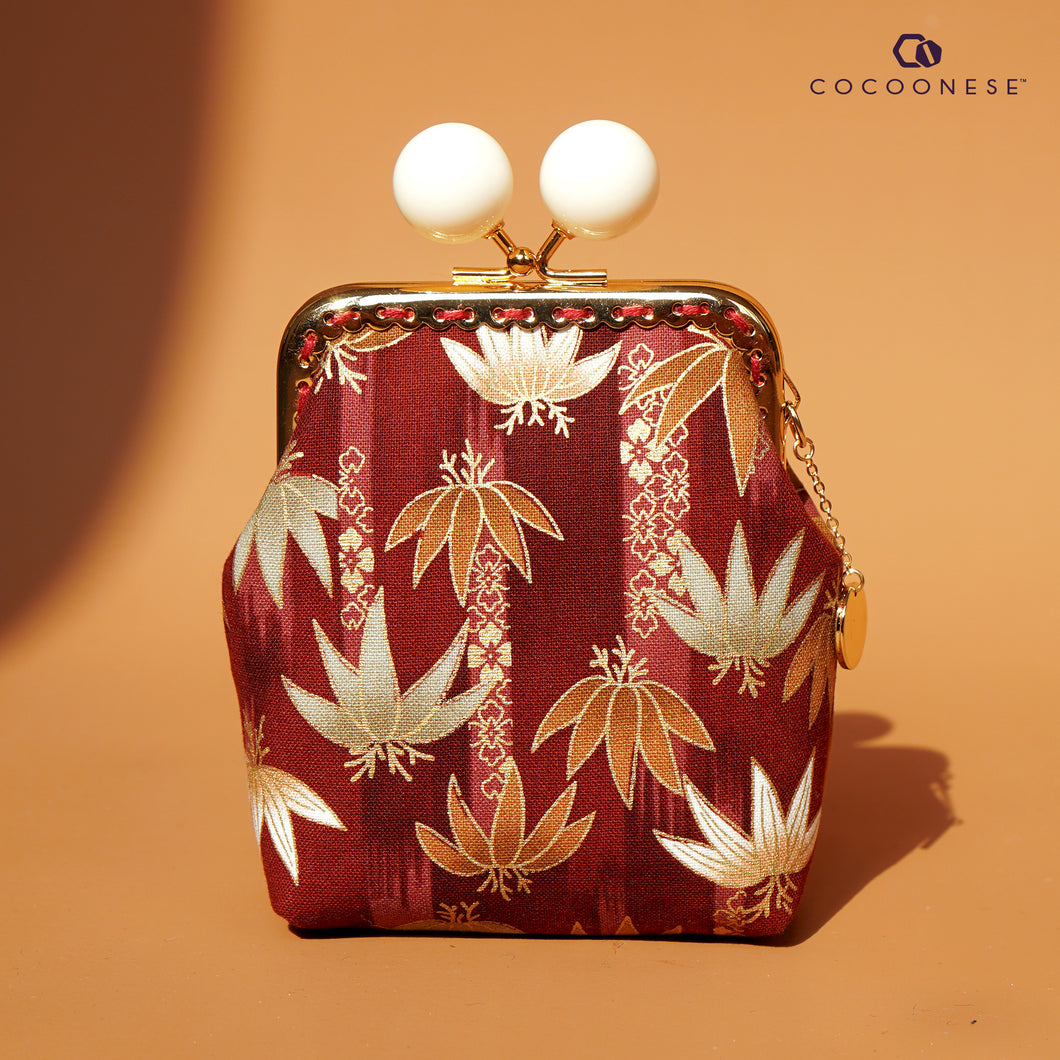 Clutch Purse - Bamboo Forest (Red)