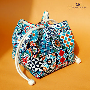 Ditty Drawstring Bag - Peranakan Tiles