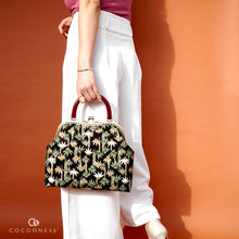 Load image into Gallery viewer, Clasp Handbag -  Clumping Bamboo