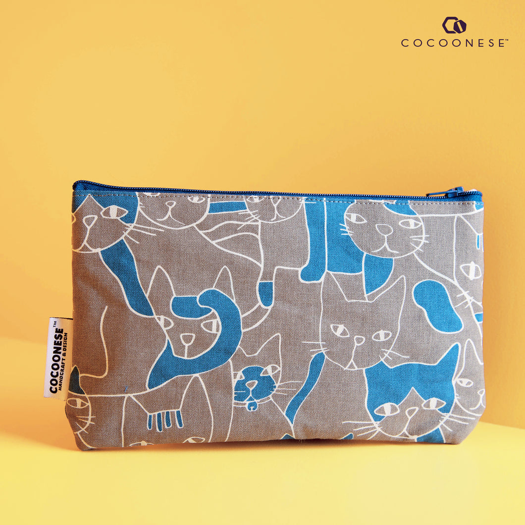Zip Pouch - Cats forest (gray)