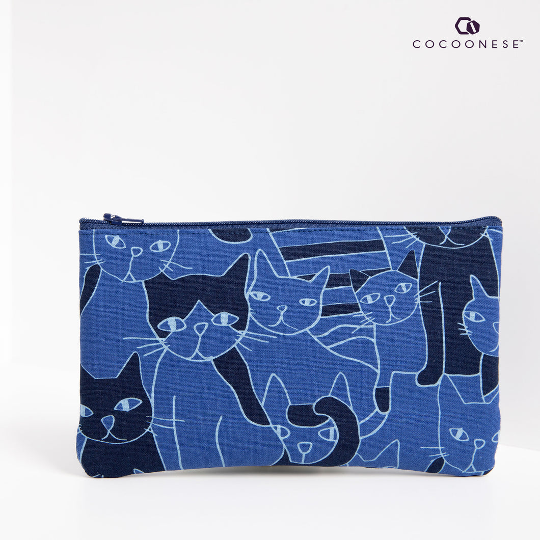 Zip Pouch - Cats forest (Blue)
