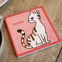 Load image into Gallery viewer, Water Absorbent Ceramic Coaster - A Little Cold Cat