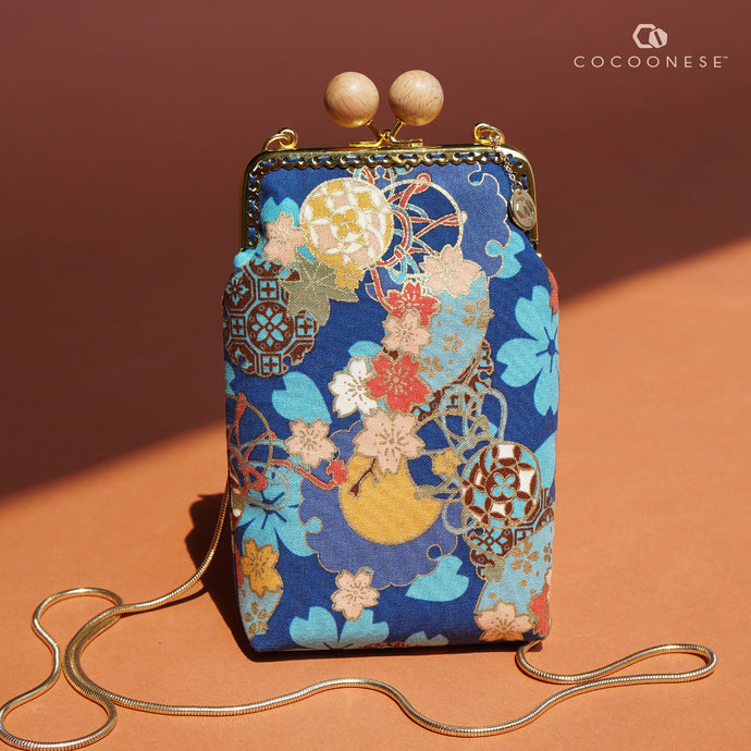 Cell Phone Purse - Sakura Clouds (Blue)
