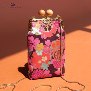 Cell Phone Purse - Sakura Clouds (Pink)