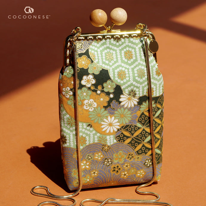 Cell Phone Purse - Hinagiku (Apple Green)