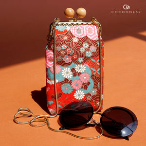 Cell Phone Purse - Hinagiku (Chili Red)