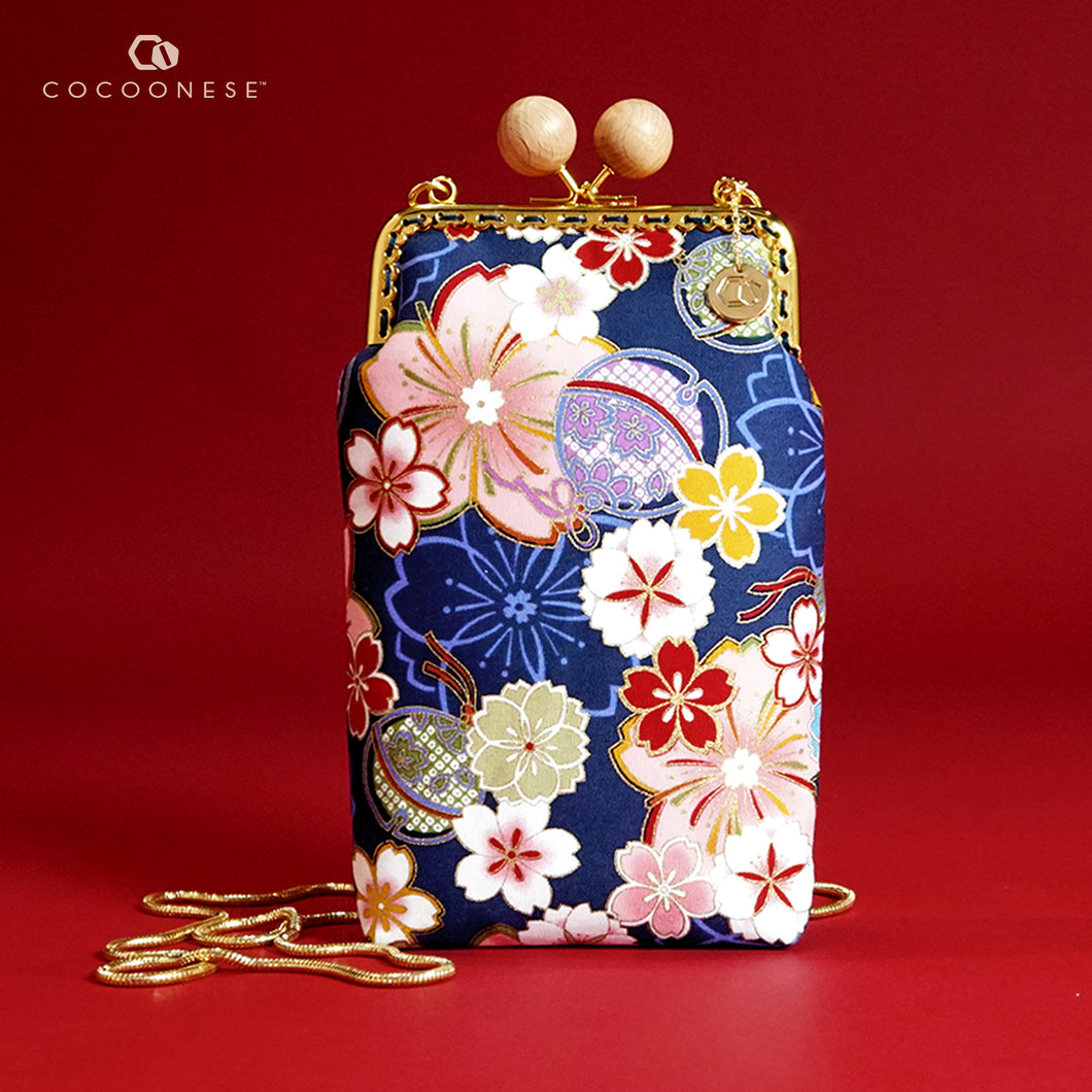 Cell Phone Purse - Sakura Forest (Blue)